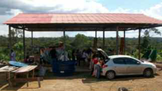 Figure 1: A community in a remote region of the Brazilian Amazon that participated in the eHealth project.