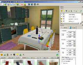 Figure 2: Exposure to food in virtual worlds can be used to measure the emotional reaction of subjects, allowing for results to aid in diagnosing eating disorders.